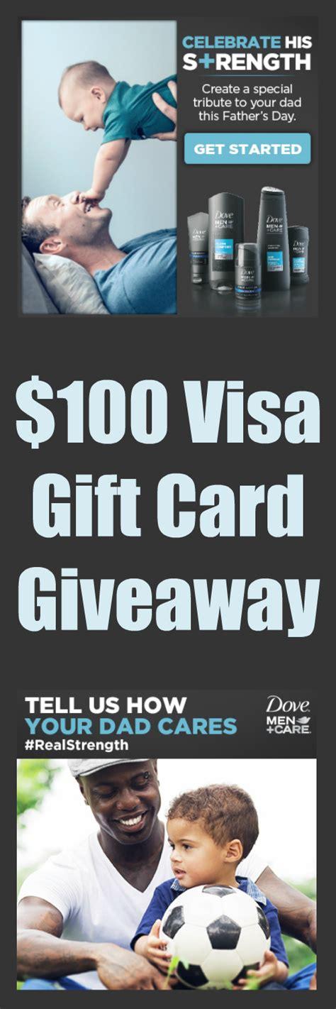 Walmart Visa Gift Card Problems - 100 visa gift card giveaway dove men care at walmart