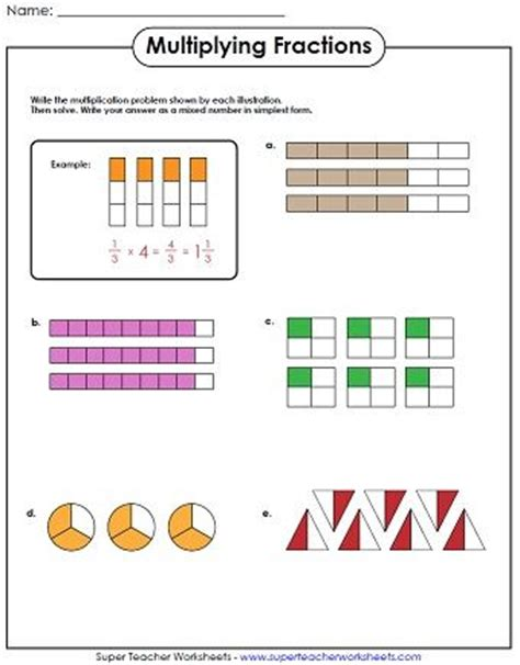 diagram using fractions check out our new multiplying fractions worksheets