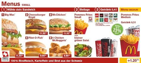 Swis Vs Serbia What S On The Menu Mcdonald S Switzerland Brand