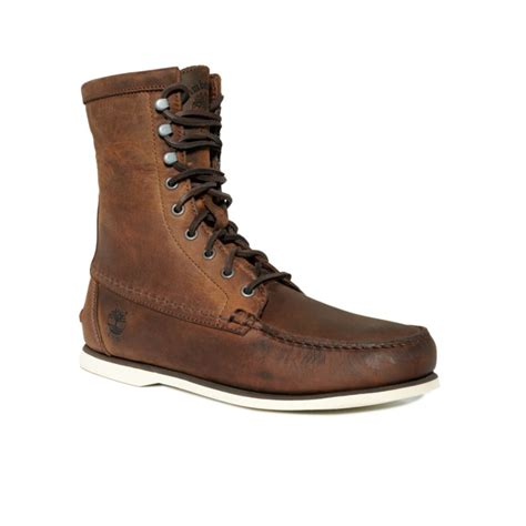 timberland classic boat shoes gaucho roughcut timberland heritage 8 handsewn boots in brown for men
