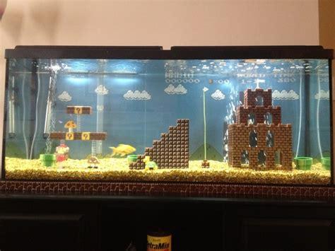 Walmart Liquor Cabinet Awesome Super Mario Bros Inspired Fish Tank Rania S