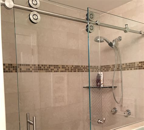 Shower Barn Door Barn Style Glass Shower Doors Builders Glass Of Bonita Inc