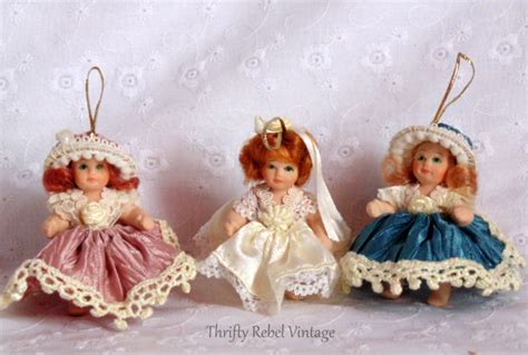 porcelain doll ornaments a vintage cast of ornament characters thrifty rebel vintage
