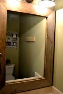 Do It Yourself Framing A Bathroom Mirror by Wood Mirror Frame Part 2