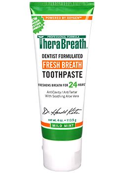 tooth paste  dry mouth therabreath