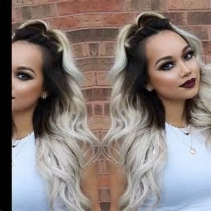 platinum ombre hair dark brown platinum ombre hair dyed hair pinterest