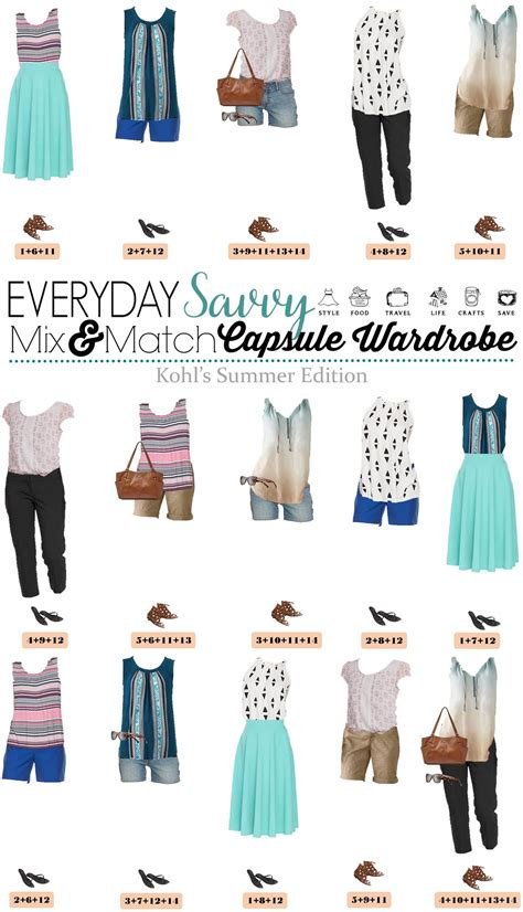 kohls summer outfits mix match style easy outfits