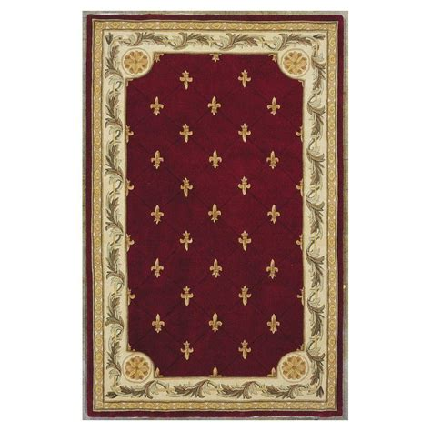 Fleur De Lis Area Rug Kas Rugs Antique Fleur De Lis 8 Ft 6 In X 11 Ft 6 In Area Rug Jew031186x116 The Home Depot