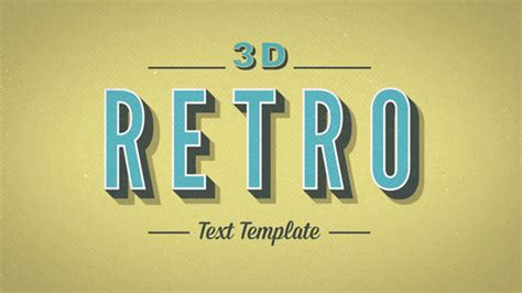 3d text template after effects 20 cool 3d typography after effects templates pixel curse