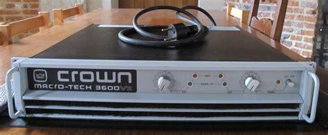 Power Lifier Crown 3600 crown ma 3600vz image 432714 audiofanzine