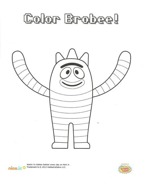 brobee coloring page yo gabba gabba party pinterest