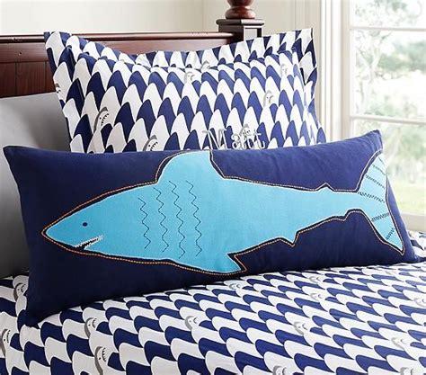 shark bedding full blue shark lumbar sham