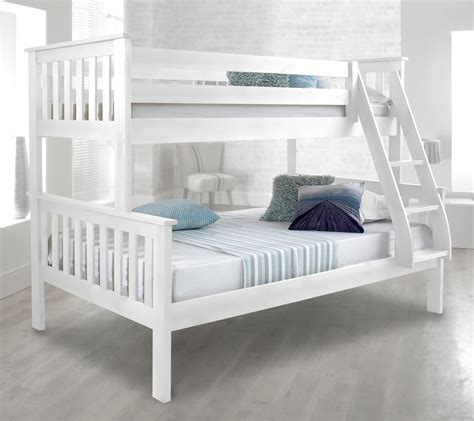 triple bed happy beds atlantis solid wood triple sleeper bunk bed 3ft