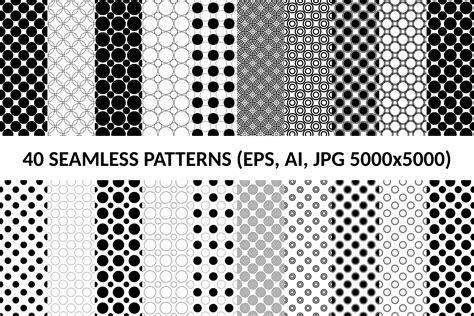 circle pattern ai 40 seamless circle patterns ai eps j design bundles