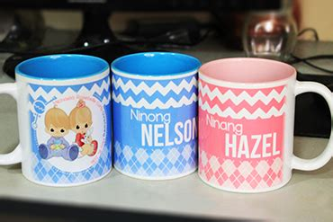 Baptismal Giveaways Souvenirs - baptismal souvenir mugs for ninong and ninang with names
