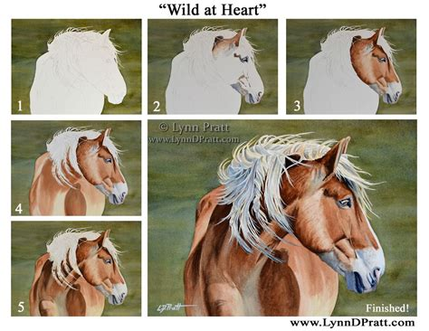 watercolor horse tutorial step by step how to art watercolor painting by lynn d