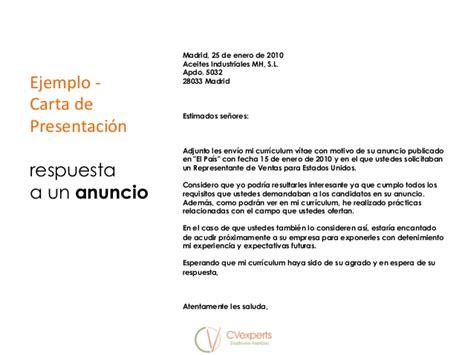 carta de presentacion nuevo empleo curr 237 culum carta de presentaci 243 n y entrevista de trabajo mar 237 a pafi