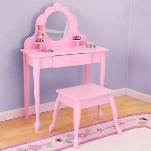 girls bedroom vanity kids vanity set pink girls table stool mirror bedroom wood