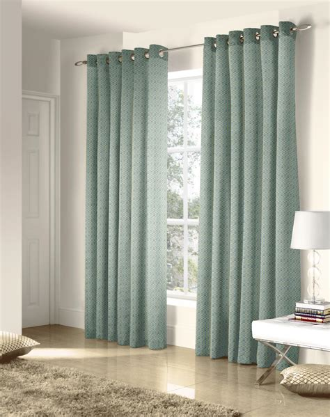 pre made drapes ritz eyelet curtains in duck egg free uk delivery