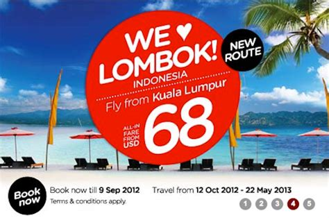 airasia lombok kl lombok airasia picks latest route from twitter tnooz