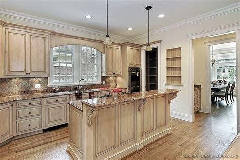 How To Whitewash Kitchen Cabinets | pictures of kitchens traditional whitewashed cabinets