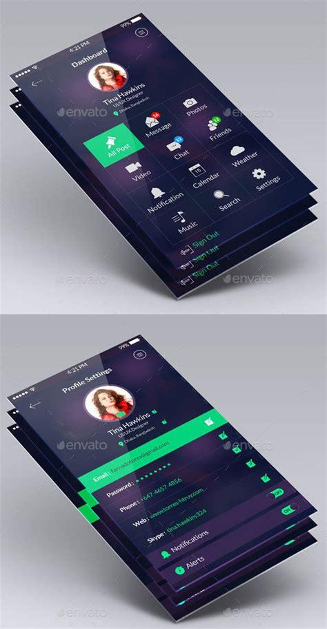mobile application design kit 50 best mobile app ui design psd templates