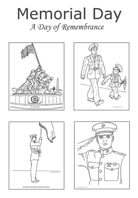 preschool coloring pages for memorial day memorial day coloring pages free and printable