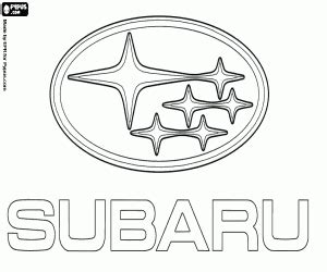 subaru emblem drawing car brands coloring pages printable