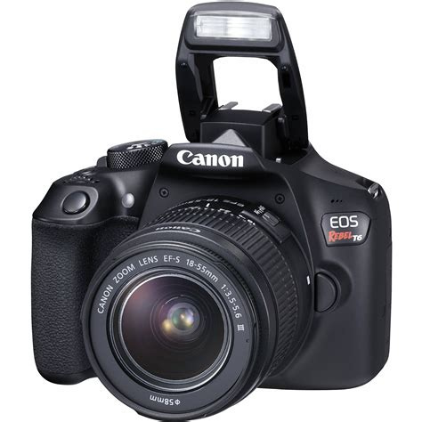 canon with canon rebel t6 18mp dslr with two lens kit and bag