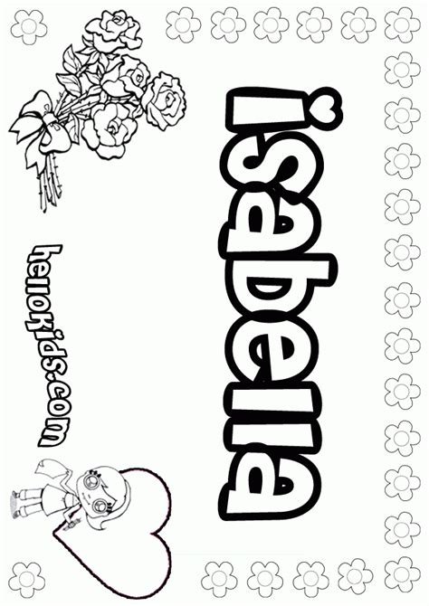 printable coloring pages with your name isabella coloring page girls name az coloring pages