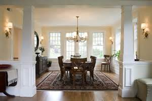 Dining Room Entrance With Columns Tapered Porch Columns Custom Pvc Column Wraps