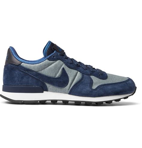 nike sneakers nike internationalist premium suede trimmed sneakers in