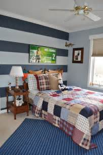 Boys Bedroom Paint Ideas by Northern Nesting Striped Accent Wall