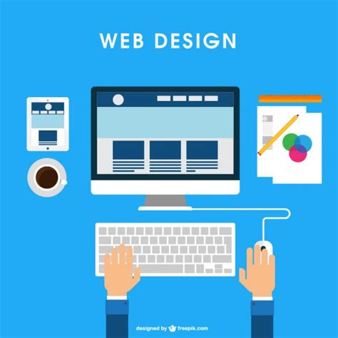 html design software free web design desk vector free download
