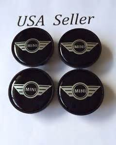 Mini Cooper Wheel Emblem 4pcs Mini Cooper Wheel Center Cap Emblem Black With Logo