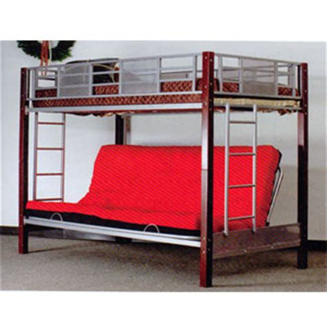bunk bed with full size bed on bottom metal bunk beds vernon twin full convertible futon bunk