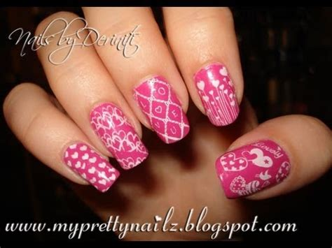 nail art konad tutorial konad valentine s day love nail art stamping tutorial