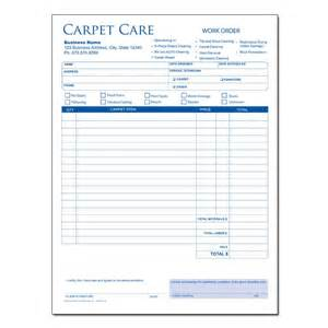 carpet cleaning invoice forms custom printing