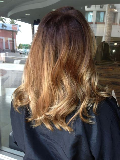 balayage on medium length hair balayage ombre shoulder length hair hair pinterest