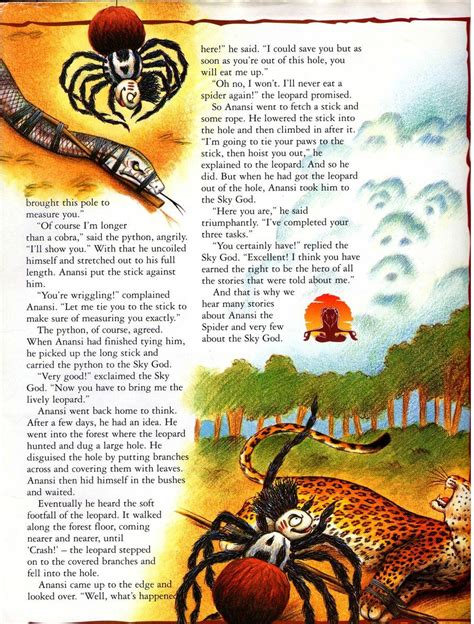 printable version of anansi wisdom story image why stories are told about anansi 2 png the lion