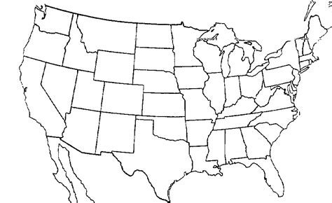 map of united states test