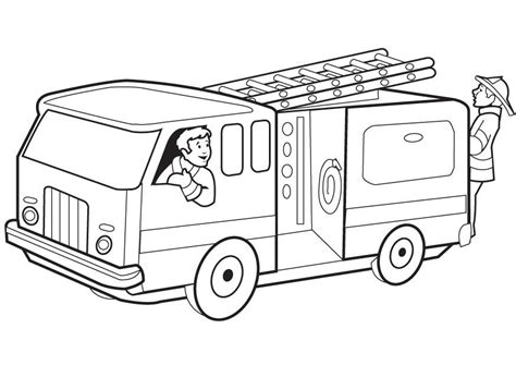 Fire Truck Coloring Pages To Download And Print For Free | free printable fire truck coloring pages for kids