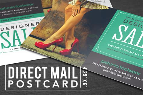 Mail Gift Card - direct mail postcard card templates on creative market