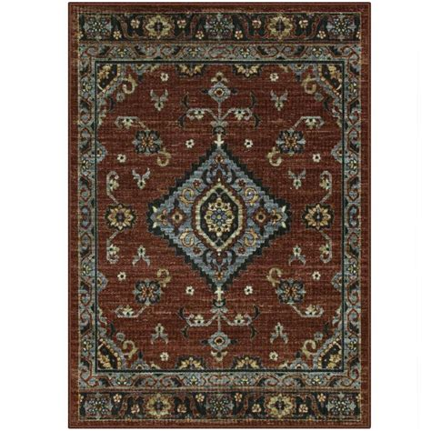 Shop Maples Rugs Value Bay Red Indoor Moroccan Area Rug Rug Values