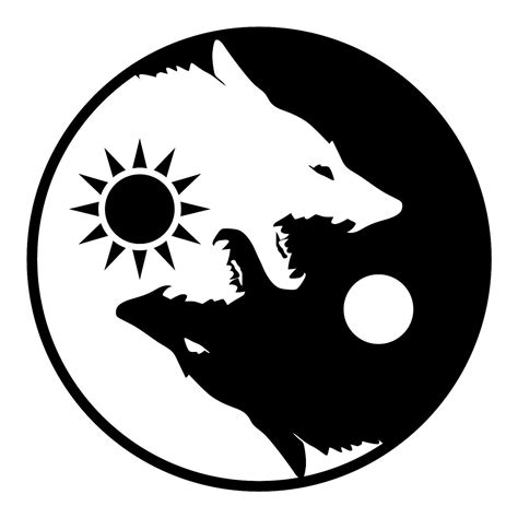 yin yang wolf tattoo yin yang wolves flag banner poster 4 x 4 wolf flag