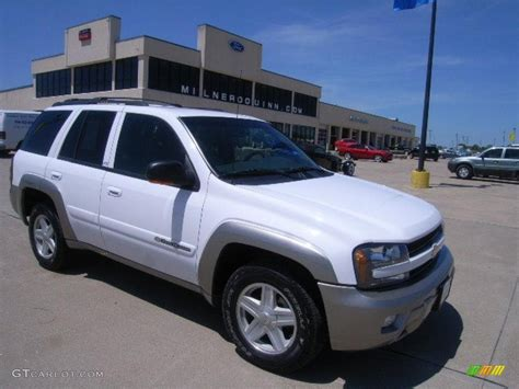 chevrolet trailblazer white 2003 summit white chevrolet trailblazer ltz 4x4 30617111