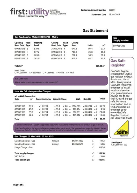 First Utility Bill Explained Myutilitygenius Electric Bill Template