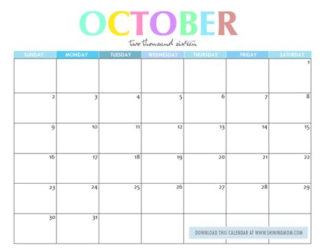 Free Printable Planner 2016 October | free printable your lovely 2016 calendars