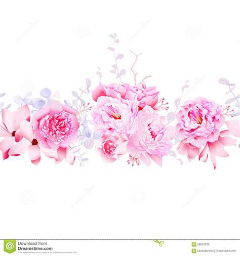 magnolia sensible et banni 232 re horizontale de vecteur sans