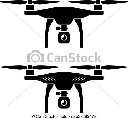 vector rc drone quadcopter with camera black symbol.